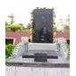 石雕套碑,墓碑,公墓,小公墓中国黑墓碑中国蓝墓碑