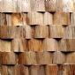 佛山新产品原生态装饰材料小片形木材马赛克,实木木材马赛克