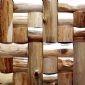 佛山新產品原生態裝飾材料回形木材馬賽克,實木木材馬賽克