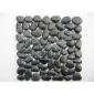 雨花石网贴石、黑色网片石