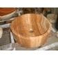 B-056木紋黃桶形藝術洗手盆BASIN