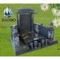 中式墓碑 国内墓碑 黑色墓石 雕刻