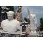 汉白玉石雕毛主席,石雕毛主席半身像,石雕站像,石雕伟人雕像
