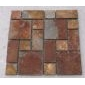 方形锈板网贴文化石 碎拼石材 量大优惠