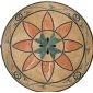 复古大理石拼花地板 水刀拼花定做 客厅拼花图案 仿古拼花