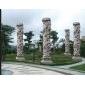 石材龙柱大型狂雷11龙柱寺庙雕刻