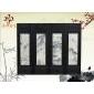 【苍洱石艺】天然大理石画 四条屏 挂屏 客厅办公 屏风 背景墙