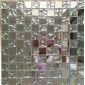 银色镜面玻璃马赛克别墅酒吧酒店墙面材料