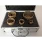 钎焊金刚石孔钻――M14内螺纹孔钻(砂宽15MM)土豪金铝箱套装