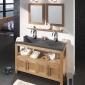石材洗手盆搭配浴室柜