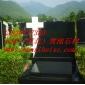 美式十字形黑色墓碑