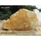 良好园林奇石W4-140901黄蜡石,园林景观�石,千层石,晚霞红,台面石
