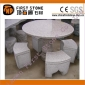 米色花岗岩圆形桌椅GCF4010
