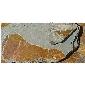 灰底锈色板岩蘑菇石MS-2013014