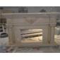米黄色大理石人造石壁炉MFI187