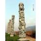 石雕盘龙柱、华表、图腾柱,文化柱石雕十二生肖柱六棱锥石雕九龙壁