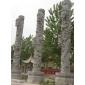 浮雕龙柱、石雕寺庙龙柱、盘龙柱、文化柱、空心柱、各种规格可定制