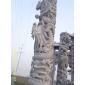 立体感强雕刻真实的石雕龙柱、浮雕龙柱、龙柱、广场石柱、文化柱
