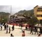 金点绿钟山青广西南丹瑶族铜鼓文化广场-地面石与路沿石效果图展示