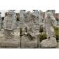 白石罗汉雕像 精品十八罗汉石雕