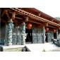宗教寺庙石雕龙柱 青石龙柱雕刻