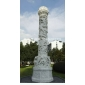 城市雕塑石雕龍柱 景觀石柱 廣場龍柱