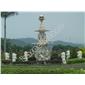 厂家直销花钵 雕塑 壁炉 景观雕塑 罗马柱 砂岩浮雕 文化外墙 百乐