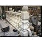 广西〓白大理石欧式大柱栏杆