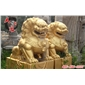 石狮子,镀金石狮子∑ ,北京石狮,门口石狮,公园石狮