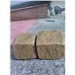 天然黄砂岩仿古面小块石