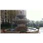 欧式花园流水喷泉 仿砂岩水池水景 户外喷泉 别墅庭院装饰水钵