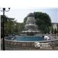 黄锈石荔枝面石雕喷泉花岗岩石雕喷泉 景观用黄锈石石材水钵