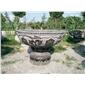 园林天然青石花缸花盆石雕