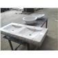B-123出口美国白色大理石异形�洗手盆WHITE MARBLE BASIN