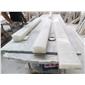 M-203伊朗进口天然白玉石楼梯扶手线条