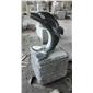 海豚石雕 出口欧洲芝麻黑g654海豚雕刻
