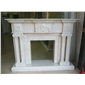 F-251特级奥特曼米黄大理石壁炉MARBLE FIREPLACE MANTEL
