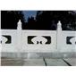 桥栏杆,供应雪花白大理石,白色大理石,汉白玉,浮雕,桥栏杆,墓碑,雕塑,花瓶柱