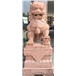 紅砂巖石獅