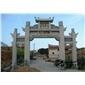 精品石雕牌楼 大理石材汉白玉牌坊 寺庙景区大型石头佛教风水山门