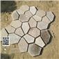 4组一平米黄秀石花岗岩碎拼板 专业各种石材碎拼 冰裂纹加工
