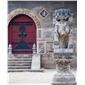 仿古石雕 青石仿古石狮子 仿古石雕定制 石雕加工 价格优惠 值得信赖
