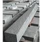 芝麻灰花岗岩G655#石材路沿石 芝麻灰路牙石 中灰麻路牙石