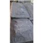 福建芝麻黑石材--磨菇石