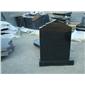 福建芝麻黑G654 深灰麻石材异形加工 (1)
