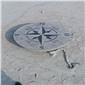 天然青石指南针石雕