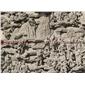 石雕画壁 罗汉故事浮雕壁画 人物故事浮雕
