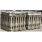 景观石-仿形石材 别墅外装异形石 西式建筑,弧形板 黄金麻花瓶柱 西式风格罗马柱