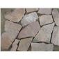 绿石英蘑菇石青石板岩,绿色文化石荷叶绿蘑菇石