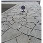 海仓-玄武岩-火山岩-洞石-不规则板材组合-天然大理石